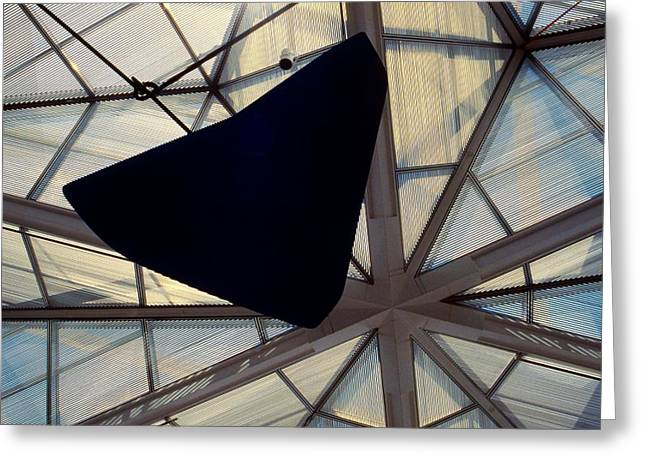 Geometric Art Greeting Cards - Looking Up at the East Wing Greeting Card by Stuart Litoff