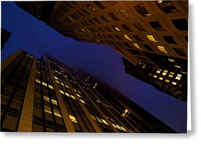 Downtown San Francisco Greeting Cards - Looking Up In San Francisco Greeting Card by Viktor Savchenko