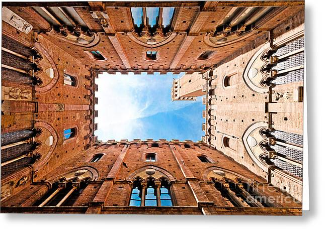 Angled Windows Greeting Cards - Siena Greeting Card by JR Photography