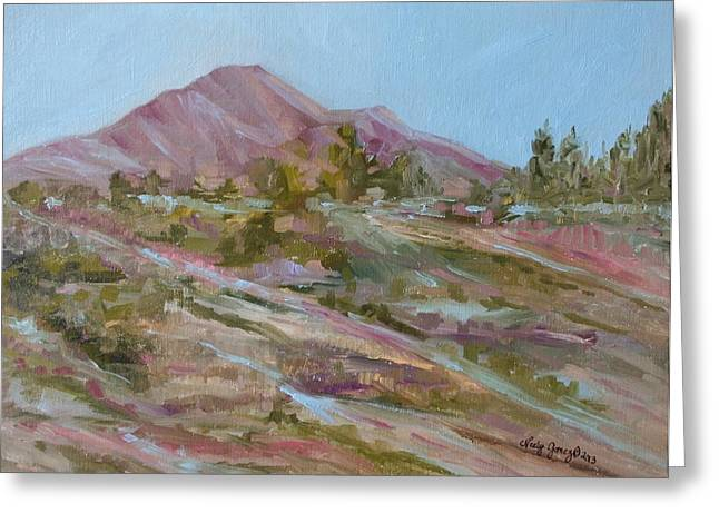 Looking Up the Hill Greeting Card by Jo Anne Neely Gomez