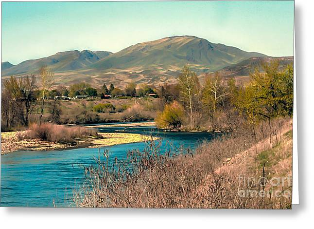 Scenic River Photography Greeting Cards - Looking Up the Payette River Greeting Card by Robert Bales