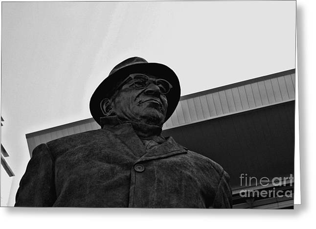 Lambeau Field Greeting Cards - Looking up to Vince Greeting Card by Tommy Anderson