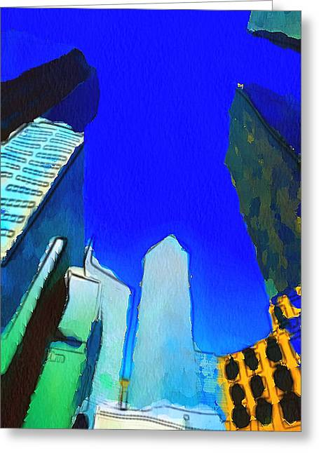 Live Art Greeting Cards - Looking Up Greeting Card by Yury Malkov
