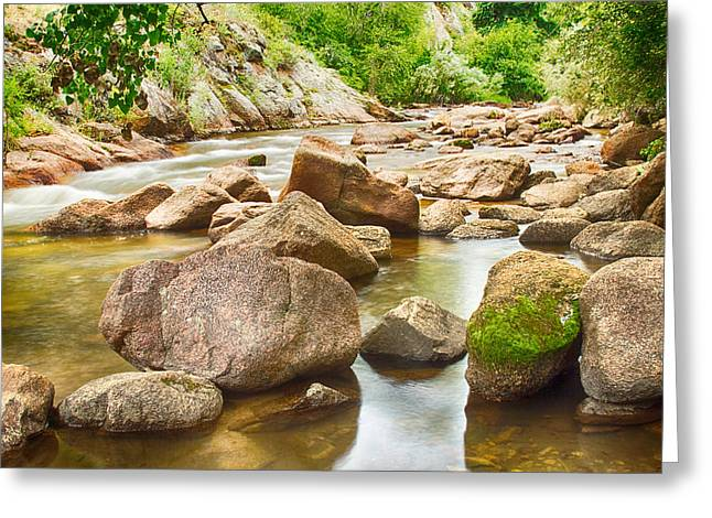 Photography Greeting Cards - Looking Upstream The Colorado St Vrain River Greeting Card by James BO  Insogna