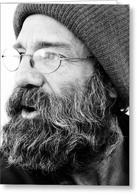 White Beard Greeting Cards - Looking West Sir Greeting Card by Jerry Cordeiro