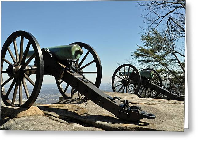"""post Civil War"" Greeting Cards - Lookout Mountain Civil War Cannon Greeting Card by Bruce Gourley"