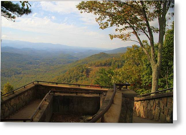Gatlinburg Tennessee Greeting Cards - Lookout Over Appalachian Mountains Greeting Card by Dan Sproul