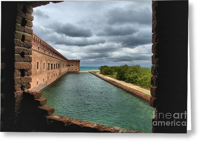 Dry Tortugas National Park Greeting Cards - Lookout Window Greeting Card by Adam Jewell