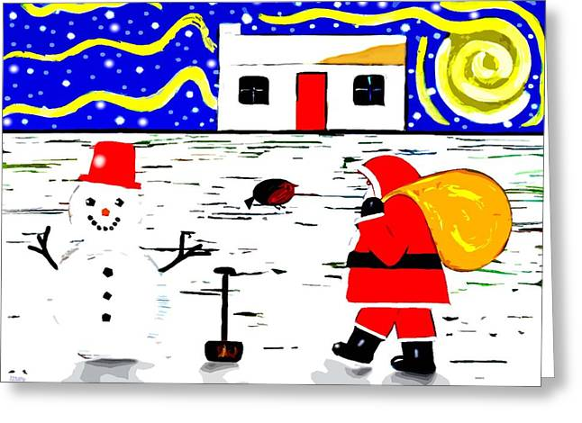 Landscape Posters Mixed Media Greeting Cards - Looks Like Christmas Greeting Card by Patrick J Murphy