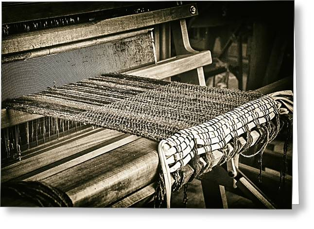 Loom Digital Art Greeting Cards - Loom Greeting Card by Adele Buttolph
