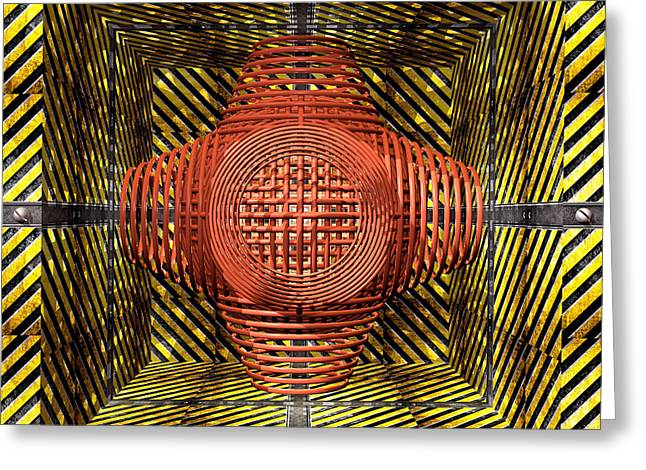 Looms Digital Art Greeting Cards - Loom In A Hazard Box Greeting Card by Walter Oliver Neal