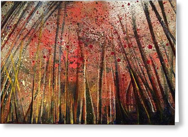 Forest Dweller Greeting Cards - Looming Destiny Greeting Card by Kathleen Barnard