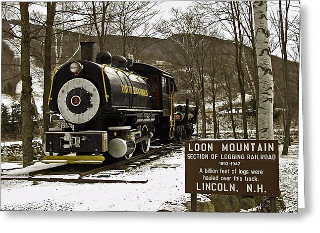 New Hampshire Logging Greeting Cards - Loon Mountain Logger Greeting Card by Richard Cox