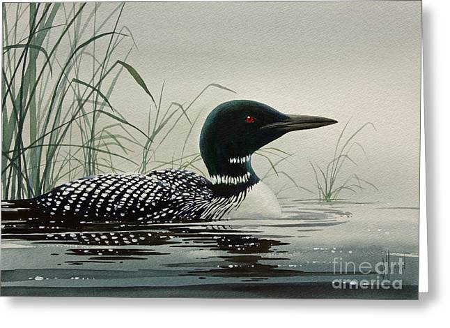 Shore Bird Print Greeting Cards - Loon Near the Shore Greeting Card by James Williamson