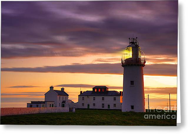 Seashore Mixed Media Greeting Cards - Loophead Lighthouse Greeting Card by Svetlana Sewell