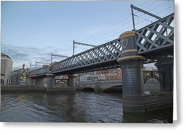 Loopline Bridge Dublin Ireland Greeting Card by Betsy C Knapp