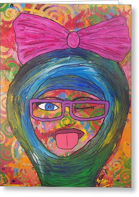 Loopy  Greeting Card by LaRita Dixon