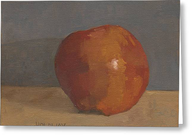 Painterly Greeting Cards - Loose Apple Greeting Card by John Holdway
