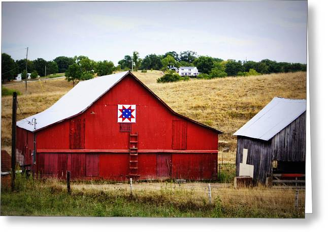 Loose Creek Quilt Barn Greeting Card by Cricket Hackmann