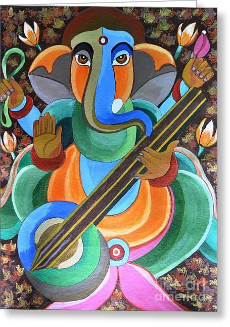 Lord Ganesha Greeting Card by Jyoti Vats