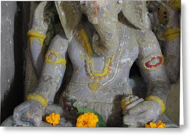 Lord Ganesha Greeting Card by Makarand Kapare