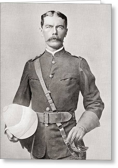Lord Photographs Greeting Cards - Lord Kitchener In 1882 As Major Of The Egyptian Cavalry.  Field Marshal Horatio Herbert Kitchener Greeting Card by Bridgeman Images