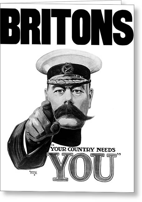 Wwi Greeting Cards - Lord Kitchener Greeting Card by War Is Hell Store