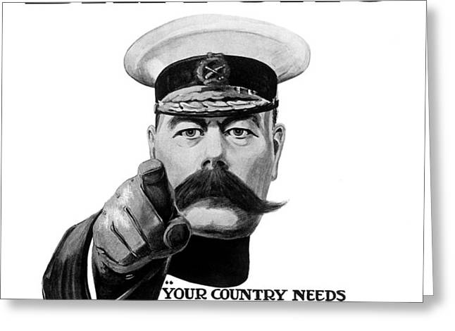 Lord Kitchener Greeting Card by War Is Hell Store