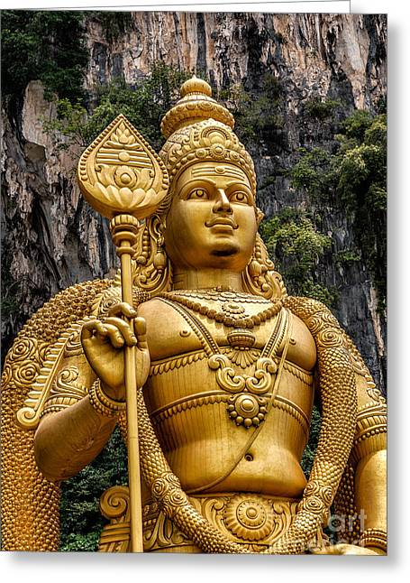 Southeast Asia Greeting Cards - Lord Murugan Greeting Card by Adrian Evans