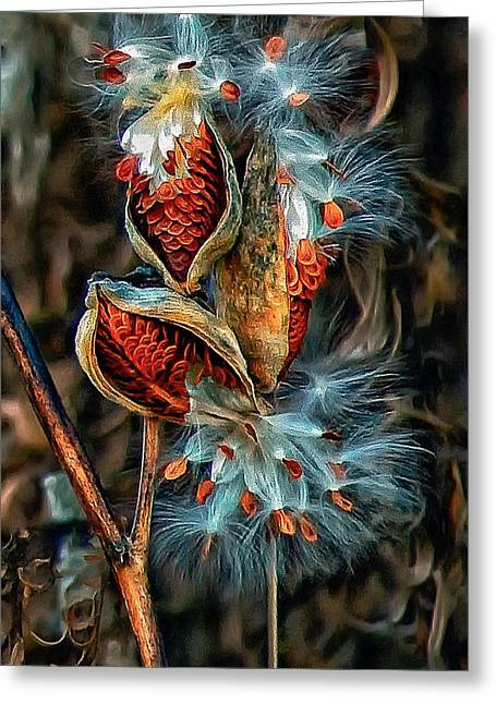 Milkweed Greeting Cards - Lord of the Dance Greeting Card by Steve Harrington