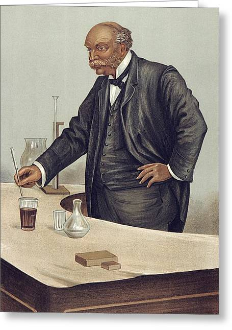 Vanity Fair Greeting Cards - Lord Rayleigh discovering argon, 1894 Greeting Card by Science Photo Library