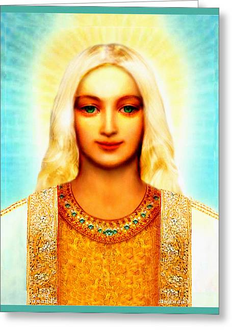 Featured Art Greeting Cards - Lord Sananda Greeting Card by Ananda Vdovic