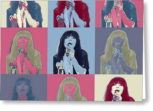 Hip Hop Dance Art Greeting Cards - Loreen in pop art Greeting Card by Toppart Sweden