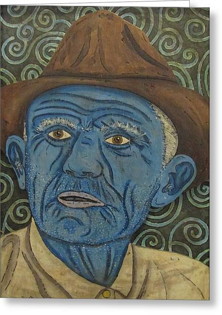 Disorder Paintings Greeting Cards - Lorenzo Fugate Greeting Card by Eric Cunningham