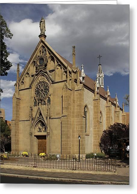 Catholic Digital Art Greeting Cards - Loretto Chapel - Santa Fe Greeting Card by Mike McGlothlen