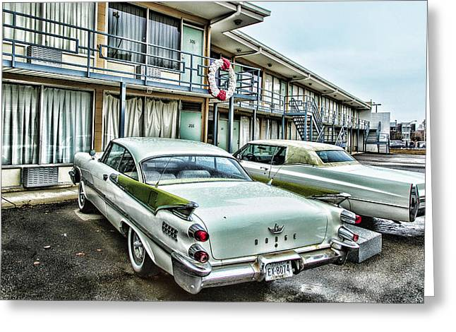 Civil Rights Greeting Cards - Lorraine Motel - Memphis Greeting Card by Stephen Stookey