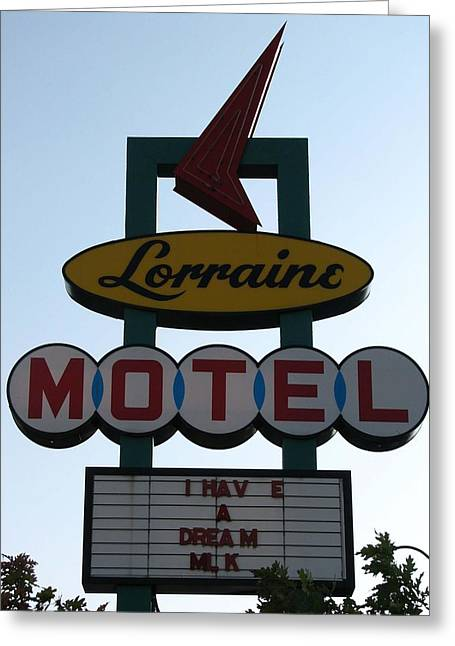 Civil Rights Greeting Cards - Lorraine Motel Greeting Card by Rebecca Jayne