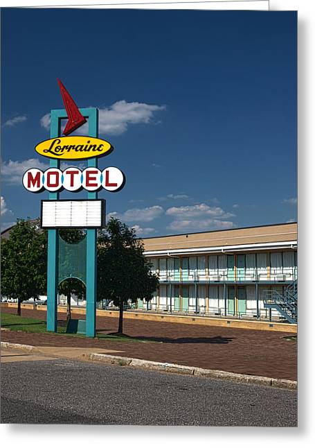 Civil Rights Greeting Cards - Lorraine Motel Sign Greeting Card by Joshua House