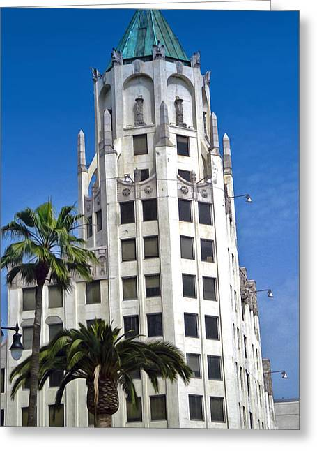 Los Angeles - Hollywood And Highland Greeting Card by Gregory Dyer