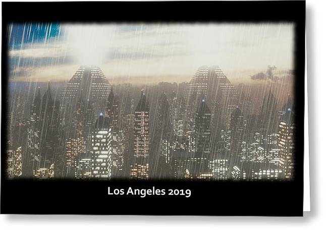 Electric Sheep Greeting Cards - Los Angeles 2019 Greeting Card by Brainwave Pictures