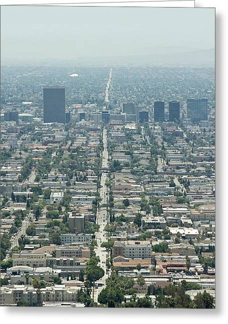 Down Town Los Angeles Greeting Cards - Los Angeles Greeting Card by Aitor Saumell