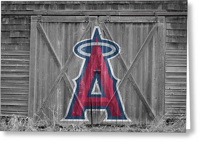 Baseball Field Greeting Cards - Los Angeles Angels Greeting Card by Joe Hamilton