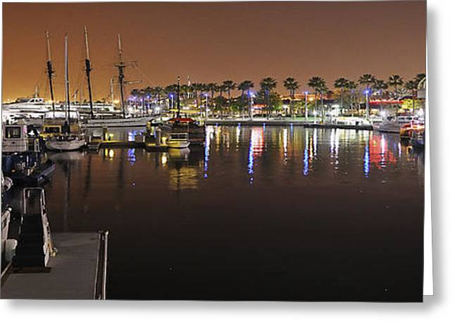 Beach At Night Greeting Cards - Los Angeles California Greeting Card by Patrick  Warneka