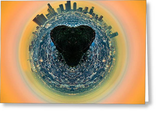 Spheres Greeting Cards - Los Angeles Circagraph 1 Greeting Card by Az Jackson
