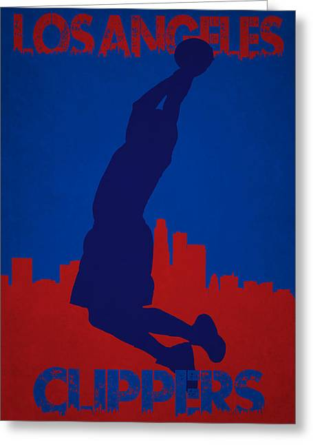 Blake Griffin Greeting Cards - Los Angeles Clippers Blake Griffin Greeting Card by Joe Hamilton