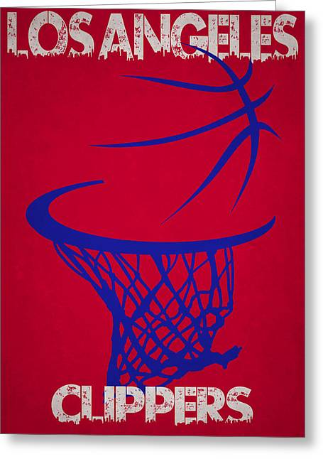 Los Angeles Clippers Greeting Cards - Los Angeles Clippers Hoop Greeting Card by Joe Hamilton