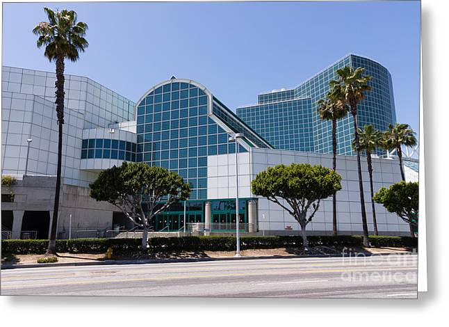 Convention Center Greeting Cards - Los Angeles Convention Center Picture Greeting Card by Paul Velgos