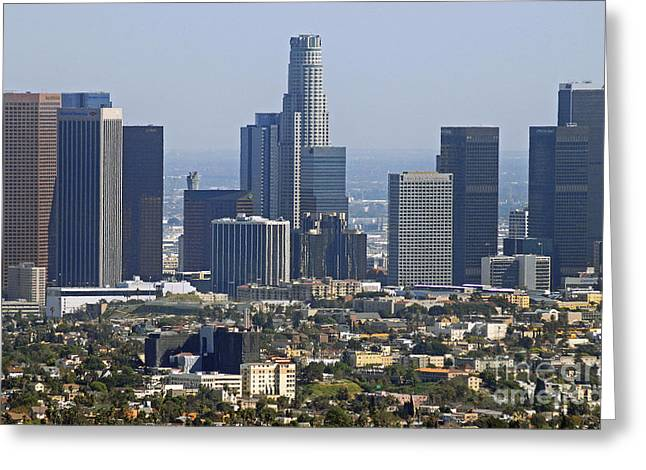 Holm Greeting Cards - Los Angeles Greeting Card by Dan Holm
