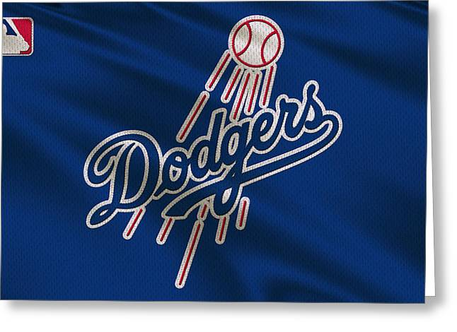 Dodger Stadium Greeting Cards - Los Angeles Dodgers Uniform Greeting Card by Joe Hamilton