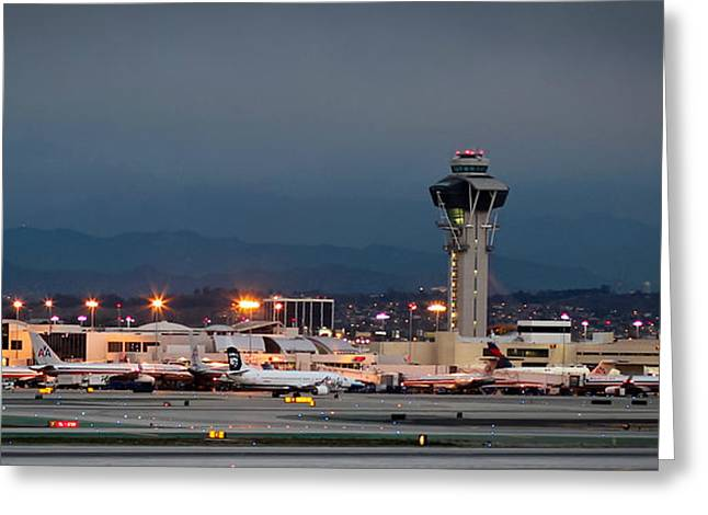International Airports Greeting Cards - Los Angeles International Airport Greeting Card by April Reppucci